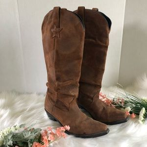 "Dingo muse cowboy boots 15"" slouched size 7.5"